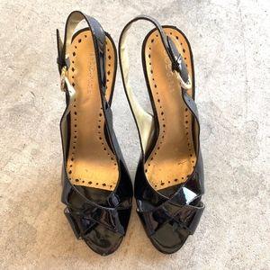 BCBGirls Peep-Toe Slingback Stiletto Heels